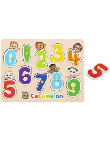 Tablero con números de Cocomelon